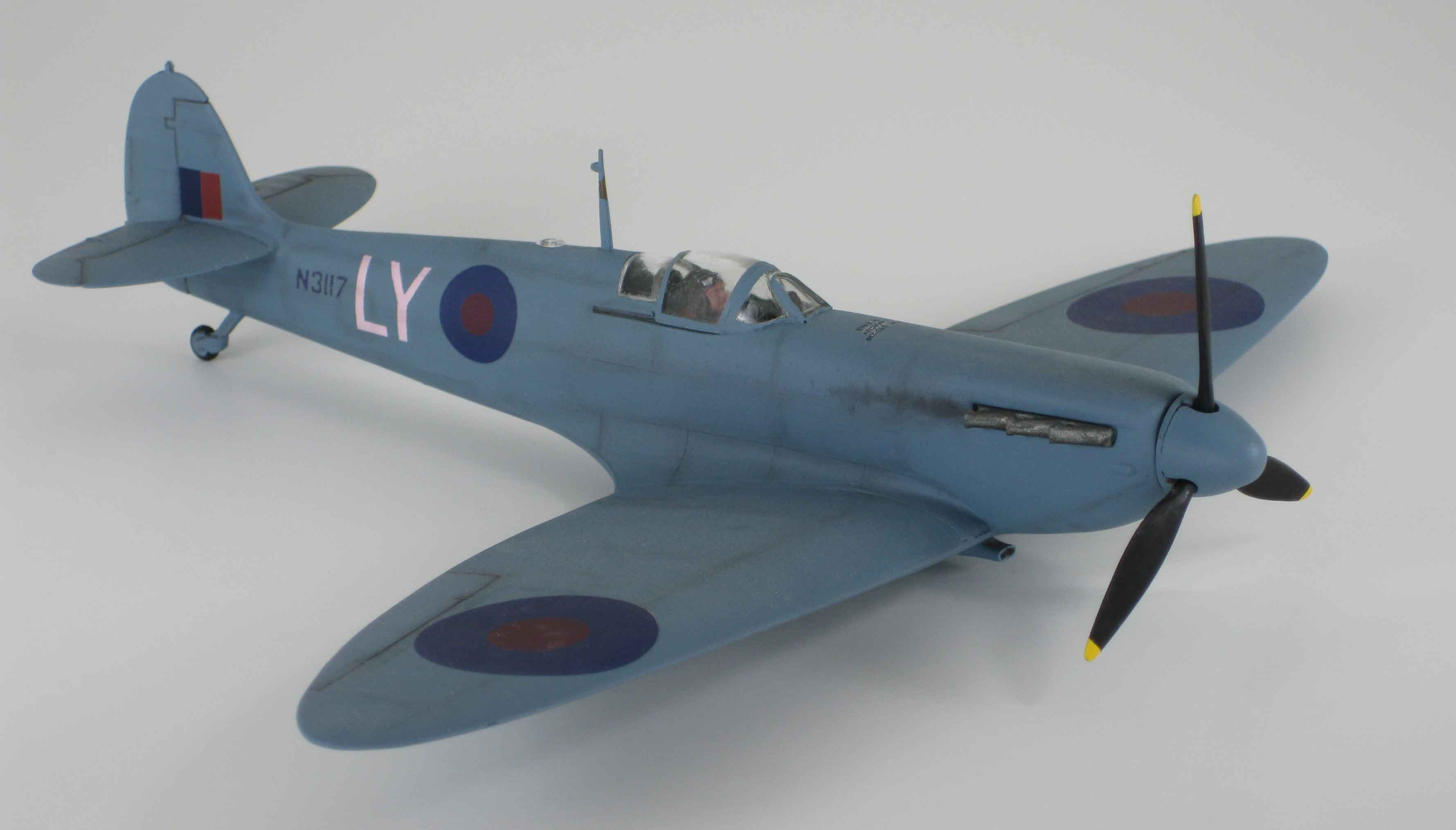1/48 spitfire airbrushed PRU blue - high altitude photoreconaissance unit aircraft